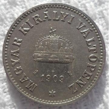 Węgry Franciszek Józef I 10 fillerów 1909 KB Ładna