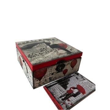 Pudełko drewniane LOVE i album na zdjęcia komplet