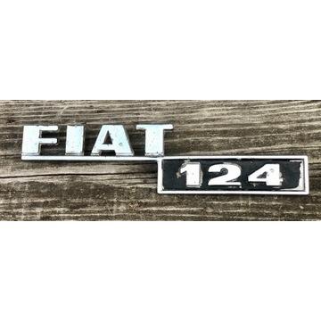FIAT 124 emblemat znaczek ORYGINAŁ zabytek