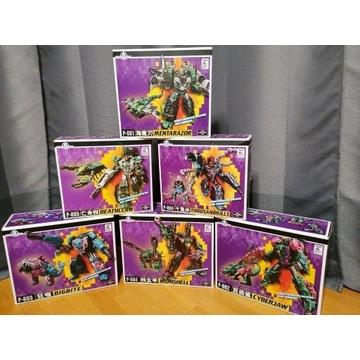 Transformers TFC Poseidon komplet 6 botów