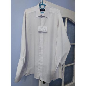 Koszula biała meska na spinki
