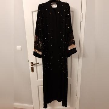 oryginalna Abaya z perłami firmy FERADJE z ZEA