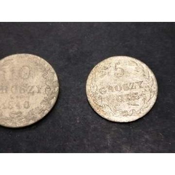 Polskie Srebrne 5 i 10 groszy