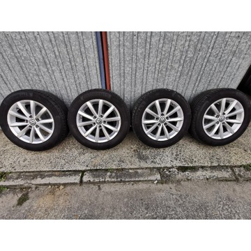 Felgi VW 6.5Jx16 ET 46 5x112 Opony Continental 205
