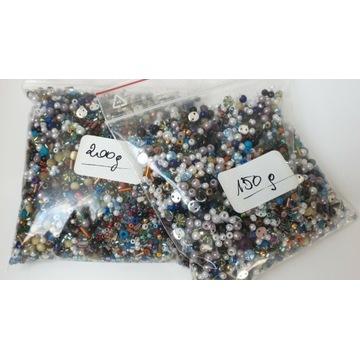 Mix kolorów i kształtów koraliki rękodzieło 350 g