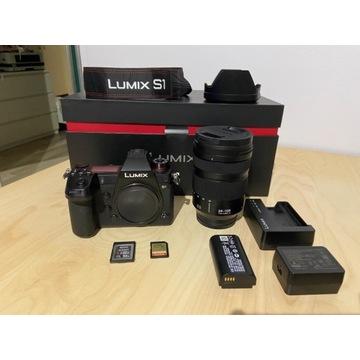 Panasonic Lumix S1 obiektyw 24-104 f4 super stan