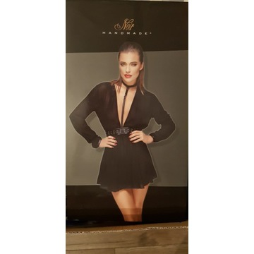 Sukienka noir handmade 36r