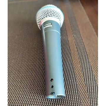 Mikrofon Wokalny Shure BETA 58A + Pokrowiec Skóra
