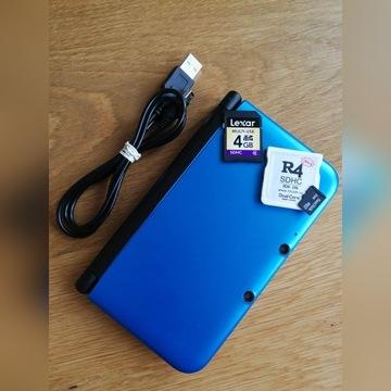 Nintendo 3DS XL Niebieski + R4 + karty SD + usb