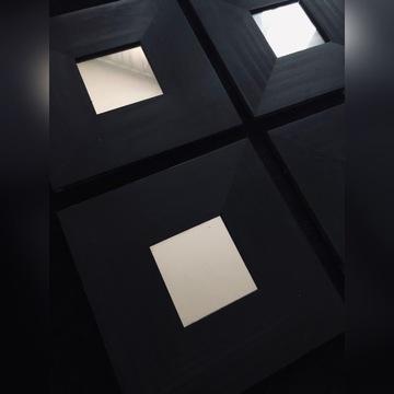 Lustro czarne ozdobne MALMA IKEA 6 sztuk