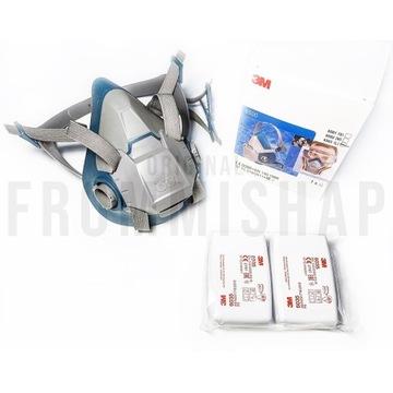 3M Maska Respirator 6503 + Filtropochłaniacze 6035