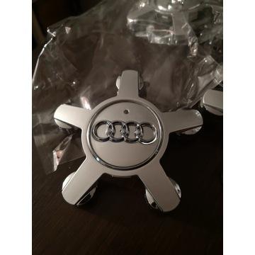 4szt Dekielki Audi srebrne - pająk