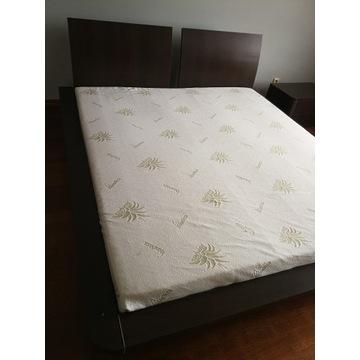 Sypialnia - łóżko, szafki nocne, komoda TV