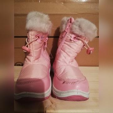 Zimowe dziewczęce buty ocieplane rozmiar 28