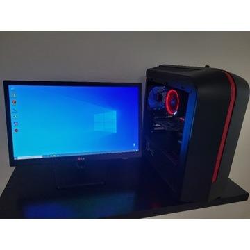 Komputer + Monitor LG , system , okablowanie