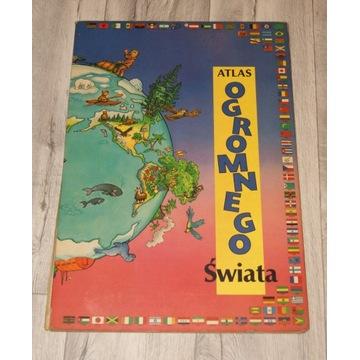 Stary duży Atlas Ogromnego Świata, rok 1992