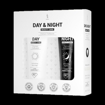 Zestaw past do zębów DuoLife Day & Night Beauty Ca