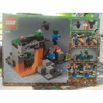 LEGO 21141 MINECRAFT JASKINIA ZOMBIE (nowa)