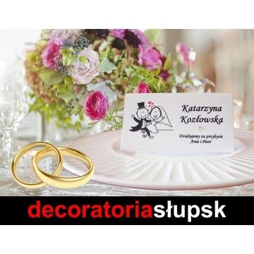 Wizytówki, winietki - druk - Ślub, Wesele