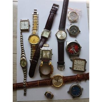 Zegarki sprawne i niesprawne części pasków itp.