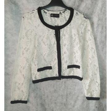 Biała koronkowa bluzka/marynarka