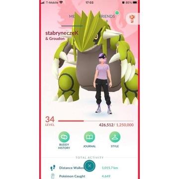 [MEGA OKAZJA] Konto Pokemon GO 34lvl VALOR