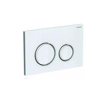 Geberit Sigma 21 przycisk spłukujący białe szkło