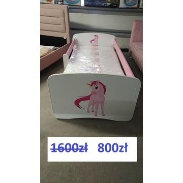 - 50% Nowe łóżeczko + szuflada + materac firmy 180