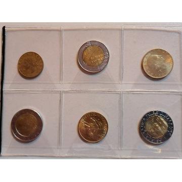 Zestaw starych monet - WATYKAN, WŁOCHY,SAN MARINO