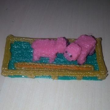 2 świnki w zagrodzie PLA Handmade