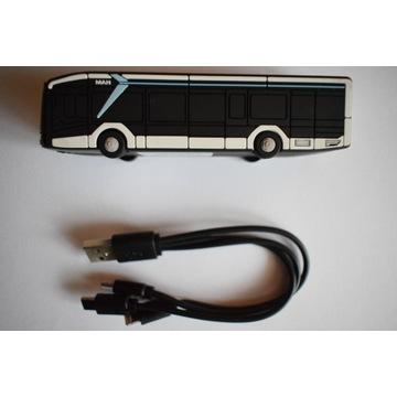 Powerbank 2600 mAh imitacja autobusu MAN