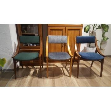 Krzesła skoczek z lat 60-70 PRL Vintage Style