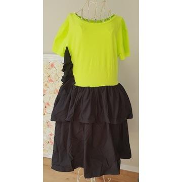 Laleli sukienka limonka