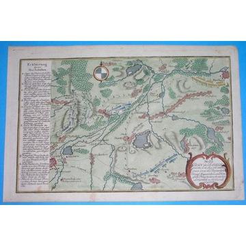 1762 rare MAPA ŚLĄSK LEGNICA Liegnitz  bitwa
