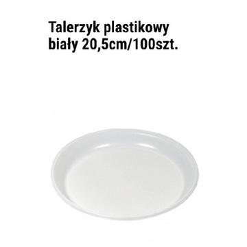 Talerzyk jednorazowy plastikowy 20,5cm 100szt.