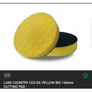 Lake Country CCS DA yellow pad tnący 165mm
