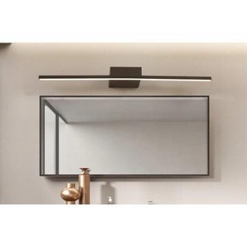 Minimalistyczna nowoczesna czarna lampa nad lustro