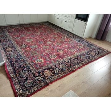Piękny Perski ręcznie tkany wełniany dywan Vintage