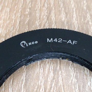 Adapter M42 do Sony A z potwierdzeniem ostrości