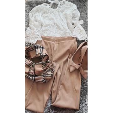 Mega paka zestaw ubrań modnych jesień zima skóra L