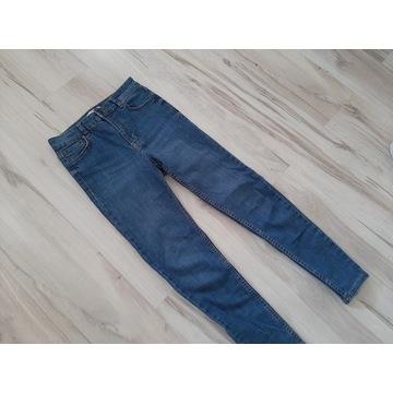 Nowe spodnie z wysokim stanem jeansowe