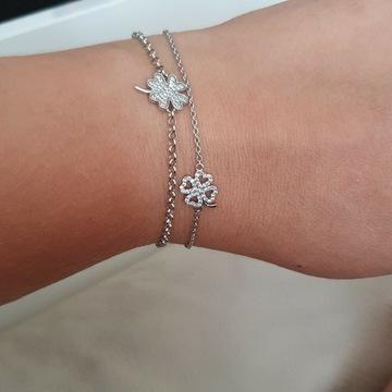 pandora charms bransoletka i łańcuszek yes srebro
