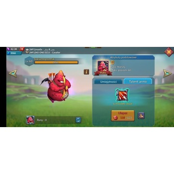 Konto Lords Mobile 820 mln t5