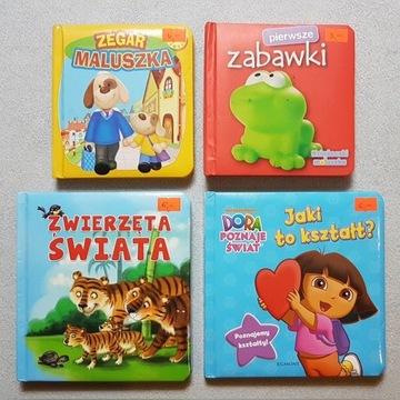 Książeczki dla dzieci - 4 sztuki zabawki kształty