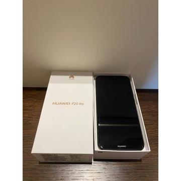 Huawei P20 lite czarny, używany, stan idealny