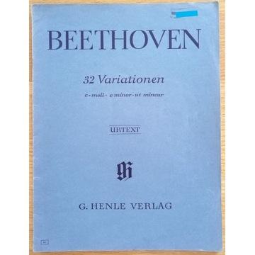"""BEETHOVEN """"32 Variationen"""" c-moll, c minor, ut min"""