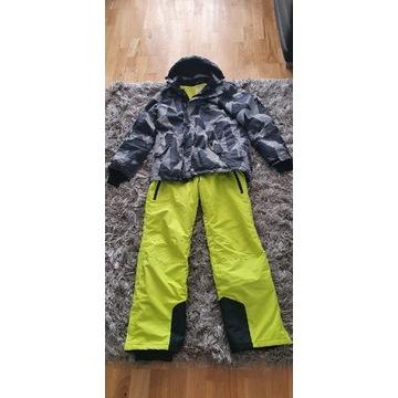 Komplet narciarski strój+sprzęt