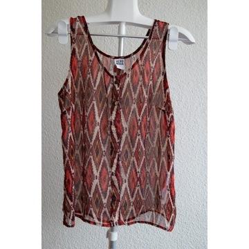 Mgiełka przezroczysta koszulka vintage bluzka