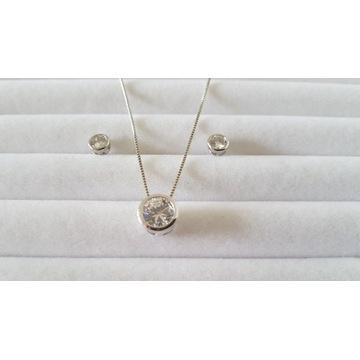 WYPRZEDAŻ komplet biżuteri łańcuszek z kolczykami