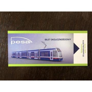 Bilet okolicznościowy- premiera Swingów, Bydgoszcz